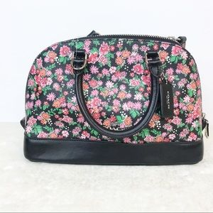 Coach Mini Sierra Satchel Cluster Floral Print